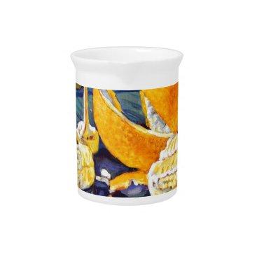 Beach Themed Orange Peel Swirl Beverage Pitcher