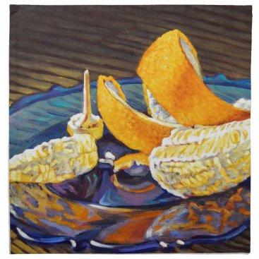 Beach Themed Orange Peel Swirl Napkin