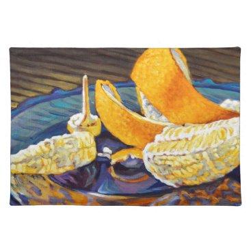 Beach Themed Orange Peel Swirl Placemat