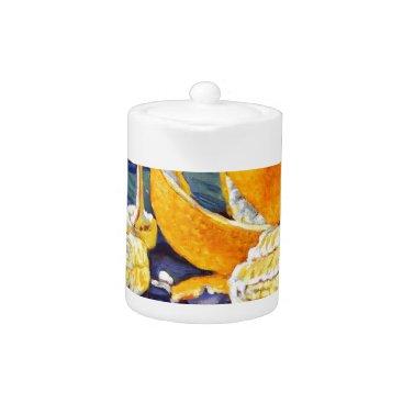 Beach Themed Orange Peel Swirl Teapot