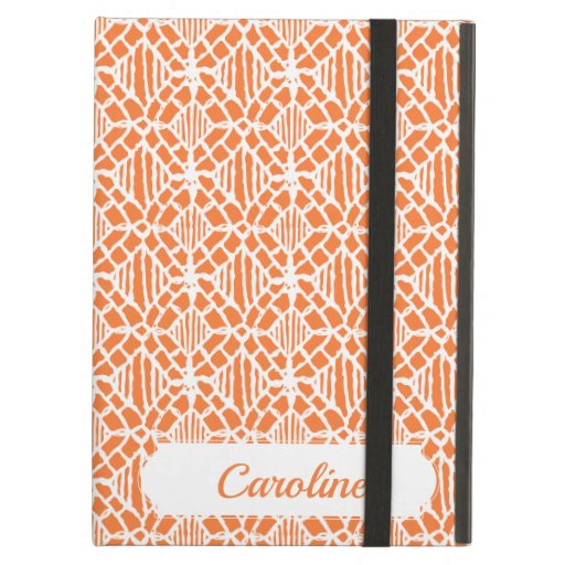 Orange Peel With White Crochet Lace Pattern Case For iPad Air