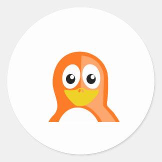 Orange Penguin Stickers