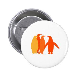 Orange Penguins Pinback Button