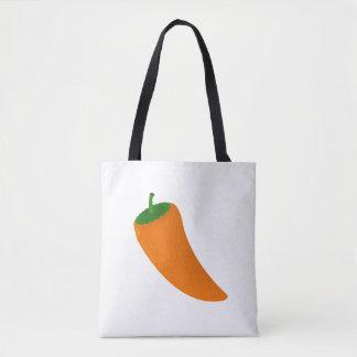 Orange Pepper Tote Bag