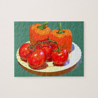 ORANGE PEPPERS, RED TOMATOES JIGSAW PUZZLE