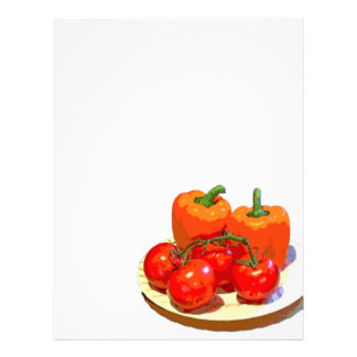 ORANGE PEPPERS, RED TOMATOES LETTERHEAD