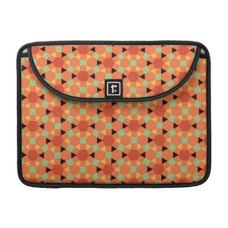 Orange Persian Hexagon Pattern MacBook Pro Sleeve