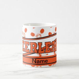 Orange Personalize Cheerleader Girl Silhoutte Coffee Mug