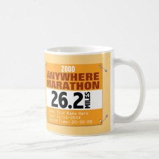 Orange Personalized Anywhere Marathon, 26.2 Miles Coffee Mug