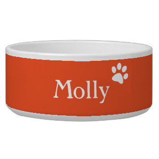Orange  | Personalized Dog Dish