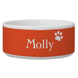 Orange  | Personalized Dog Dish