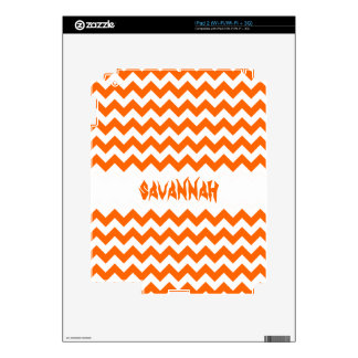 Orange Personalized iPad Skin-you choose colors