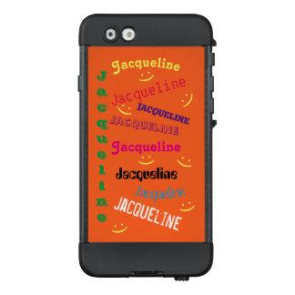 Orange Personalized Name Smiley Phone Case