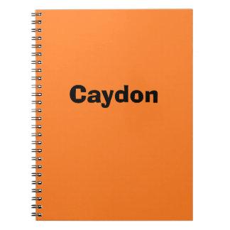 Orange Personalized Notebook