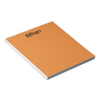 Orange Personalized Notepad