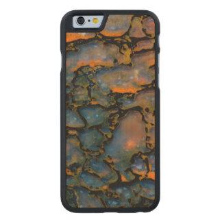 Orange Petrified dinosaur bone Carved Maple iPhone 6 Case