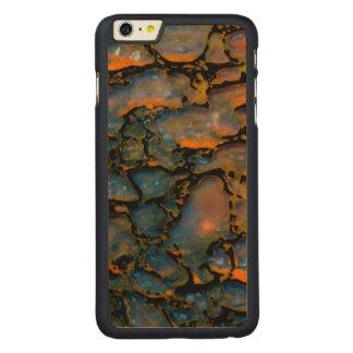 Orange Petrified dinosaur bone Carved Maple iPhone 6 Plus Slim Case