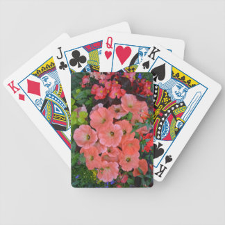 Orange petunia flowers bicycle playing cards