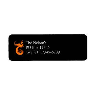 Orange Phoenix Custom Return Address Labels