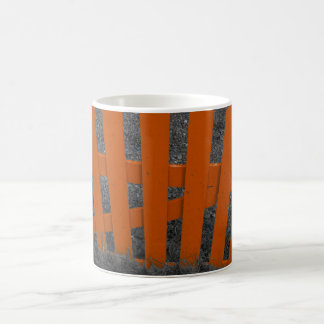 Orange Picket Fencing Coffee Mug
