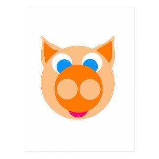 orange piggy postcard