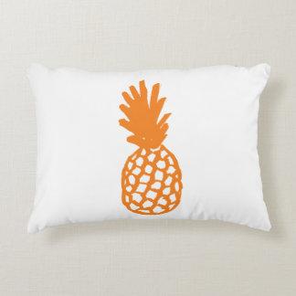 Orange Pineapple Accent Pillow