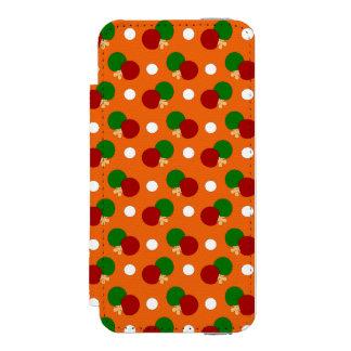 Orange ping pong pattern iPhone SE/5/5s wallet case