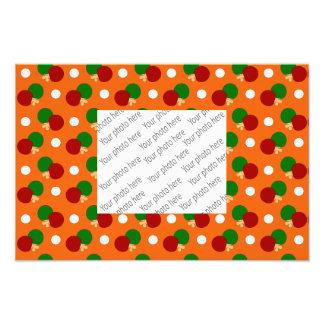 Orange ping pong pattern photo