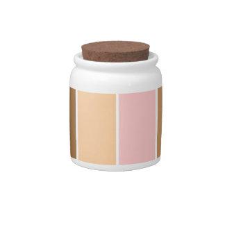 Orange pink and brown stripe pattern candy jar