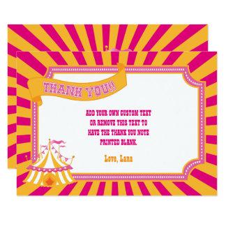Orange & Pink Carnival Thank You Cards