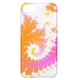 Orange & Pink Feathery Fractal iPhone 5C Cover