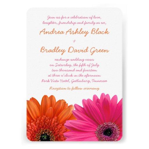 3000 Pink And Orange Wedding Invitations Pink And Orange Wedding Announcements Amp Invites
