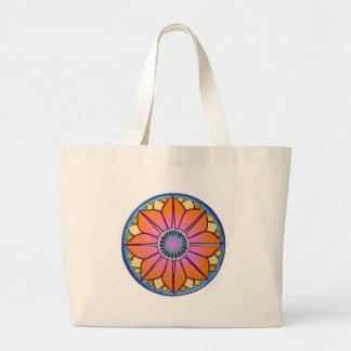 orange&pink mandala bags