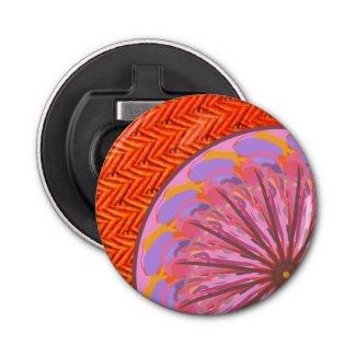 Orange & Pink Mandala Magnet Bottle Opener