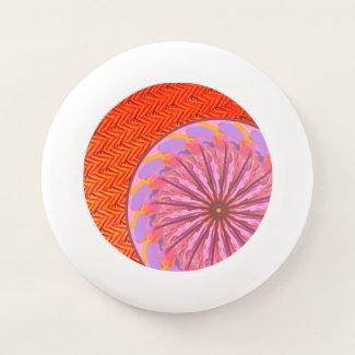 Orange & Pink Mandala Wham-O Frisbee