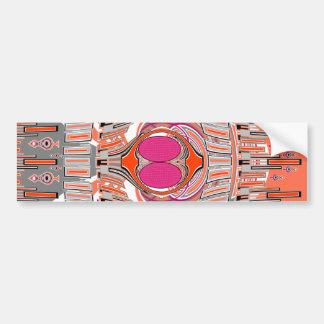 Orange pink superfly design car bumper sticker