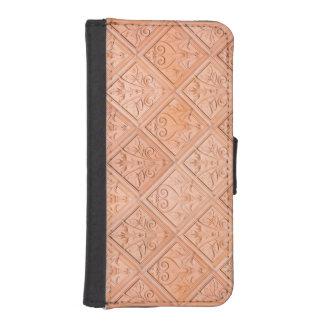 Orange Pink Terracotta Pattern Phone Wallets