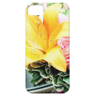 orange pink wedding flowers star lily rose iPhone SE/5/5s case