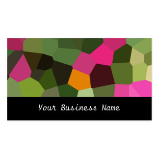 Orange Pinks Green Black Abstract Business Card