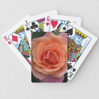 Orange Pinwheel Rose Bicycle Playing Cards