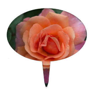 Orange Pinwheel Rose Cake Topper