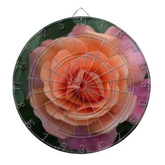 Orange Pinwheel Rose Dartboard