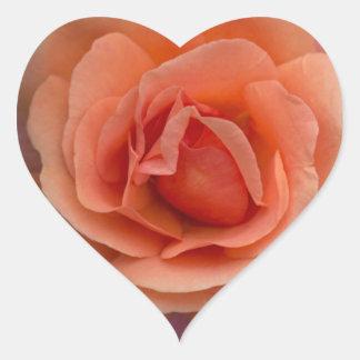 Orange Pinwheel Rose Heart Sticker