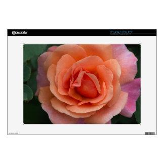 """Orange Pinwheel Rose Skin For 15"""" Laptop"""