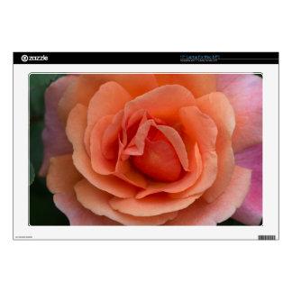 """Orange Pinwheel Rose Skins For 17"""" Laptops"""