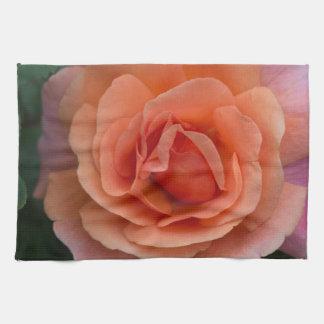 Orange Pinwheel Rose Towels