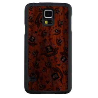 Orange pirate ship pattern carved® walnut galaxy s5 case