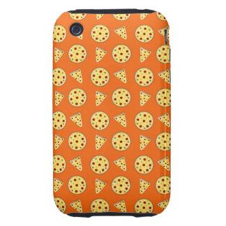 Orange pizza pattern tough iPhone 3 cover