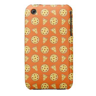 Orange pizza pattern iPhone 3 Case-Mate case