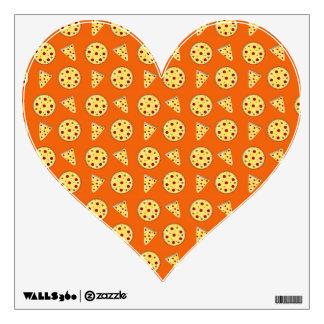 Orange pizza pattern wall decals
